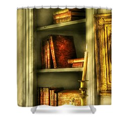 Writer - In The Library  Shower Curtain by Mike Savad