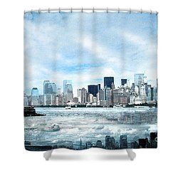 Wrong Expectations New York City Usa Shower Curtain by Sabine Jacobs