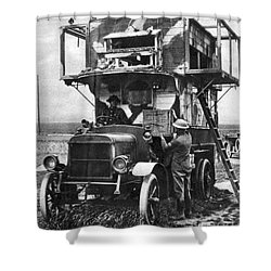 Wwi British Carrier Pigeon Loft Shower Curtain by Photo Researchers