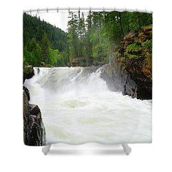 Yaak Falls Shower Curtain by Jeff Swan