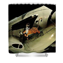Yak 9 Tiger Shower Curtain by Benjamin Yeager