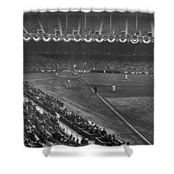 Yankee Stadium Game Shower Curtain by Underwood Archives