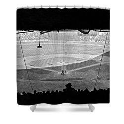 Yankee Stadium Grandstand View Shower Curtain by Underwood Archives