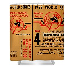 Yankees 4th Straight - Vintage Shower Curtain by Benjamin Yeager