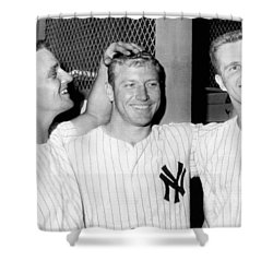 Yankees Celebrate Victory Shower Curtain by Underwood Archives