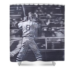 Yaz - Carl Yastrzemski Shower Curtain by Sean Connolly
