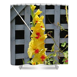 Yellow Grandeur Shower Curtain by Sonali Gangane