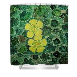Yellow Magic  Shower Curtain by Sonali Gangane