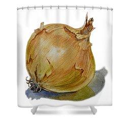 Yellow Onion Shower Curtain by Irina Sztukowski