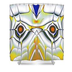 Yellow Owl Shower Curtain by Anastasiya Malakhova