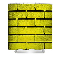 Yellow Wall Shower Curtain by Semmick Photo