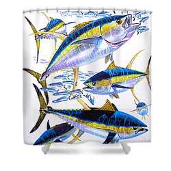 Yellowfin Run Shower Curtain by Carey Chen