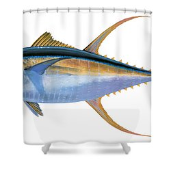 Yellowfin Tuna Shower Curtain by Carey Chen