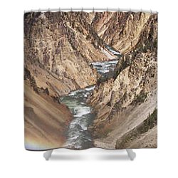 Yellowstone National Park Montana  3 Panel Composite Shower Curtain by Thomas Woolworth