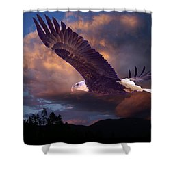 Yeshua Is Calling Shower Curtain by Bill Stephens