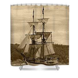Yo Ho Lady Washington Shower Curtain by Kym Backland