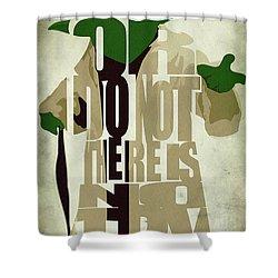Yoda - Star Wars Shower Curtain by Ayse Deniz