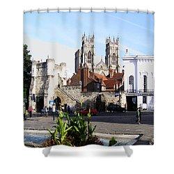 York Bootham Barr Shower Curtain by Neil Finnemore