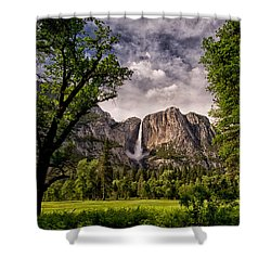 Yosemite Falls Shower Curtain by Cat Connor