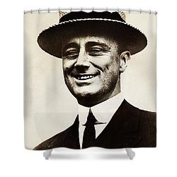Young Franklin  Roosevelt Shower Curtain by Bill Cannon