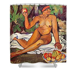 Young Half Caste Woman Shower Curtain by Marie Clementine Valadon