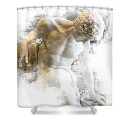 Young Man Shower Curtain by Evie Carrier