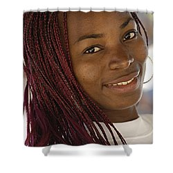 Young Woman Costa Rica Shower Curtain by Bob Christopher