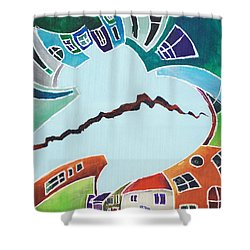 Your Reality Or Mine. Realities Vis-a-vis Or When A Rupture Matters Shower Curtain by Elisabeta Hermann