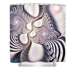 Zebra Phantasm Shower Curtain by Anastasiya Malakhova