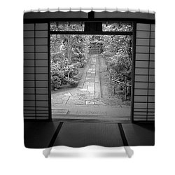 Zen Garden Walkway Shower Curtain by Daniel Hagerman