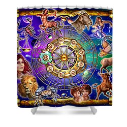 Zodiac Shower Curtain by Ciro Marchetti