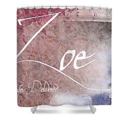 Zoe - Life Delivered Shower Curtain by Christopher Gaston