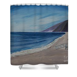 Zuma Lifeguard Tower #5 Shower Curtain by Ian Donley