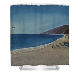Zuma Lifeguard Tower Shower Curtain by Ian Donley