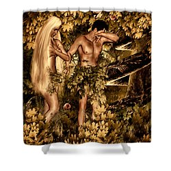 Birth Of Sin Shower Curtain by Lourry Legarde