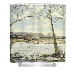 The Frozen Meadow Shower Curtain by Alexander Jamieson