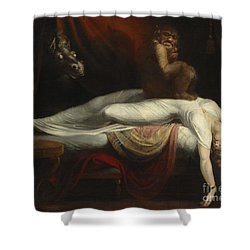 The Nightmare Shower Curtain by Henry Fuseli