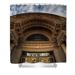 008 Architectural Beauty Of Downtown Buffalo Series Shower Curtain by Michael Frank Jr