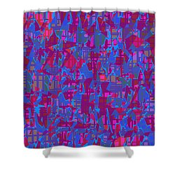 0671 Abstract Thought Shower Curtain by Chowdary V Arikatla