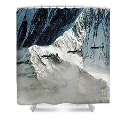 A-10 Thunderbolt IIs Fly Shower Curtain by Stocktrek Images