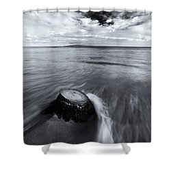 Against The Tides Shower Curtain by Mike  Dawson