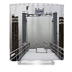 Ascona With Snow Shower Curtain by Joana Kruse