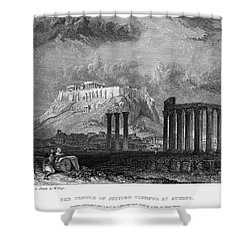 Athens: Olympian Zeus Shower Curtain by Granger