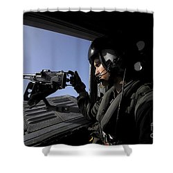 Aviation Warfare Systems Operator Shower Curtain by Stocktrek Images