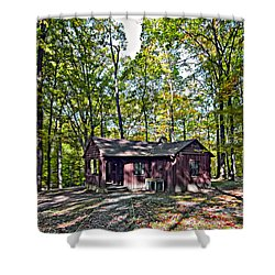 Babcock Cabin Shower Curtain by Steve Harrington