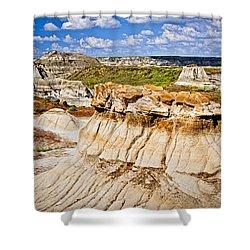 Badlands In Alberta Shower Curtain by Elena Elisseeva