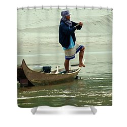 Balancing  Act  Shower Curtain by Bob Christopher