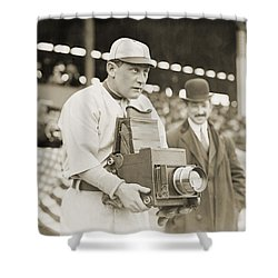 Baseball: Camera, C1911 Shower Curtain by Granger
