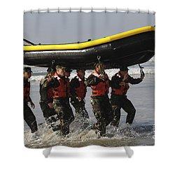 Basic Underwater Demolitionseal Shower Curtain by Stocktrek Images