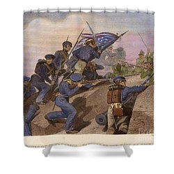 Battle Of Churubusco, 1847 Shower Curtain by Granger